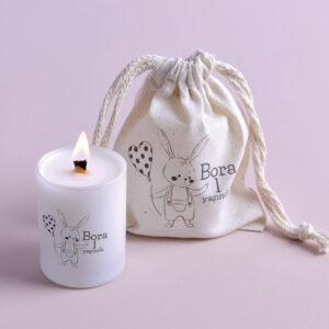 Romantik Tavşan Bardak Mum