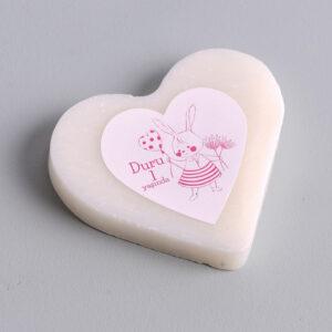 Romantik Tavşan Kalp Sabun